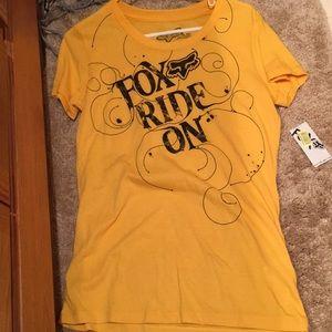 NWT Fox ride on Moto shirt top L